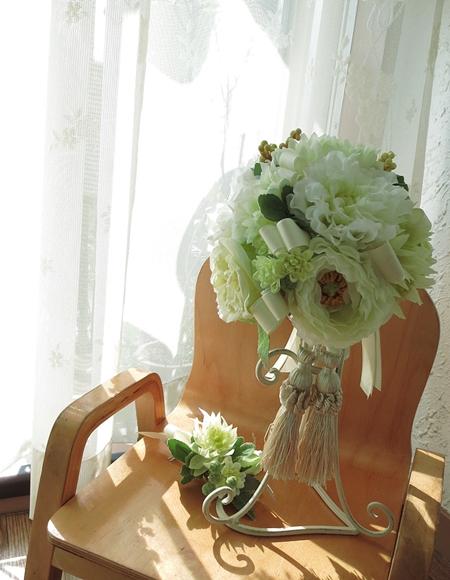 アーティフィシャルフラワー(造花)の披露宴用ブーケ